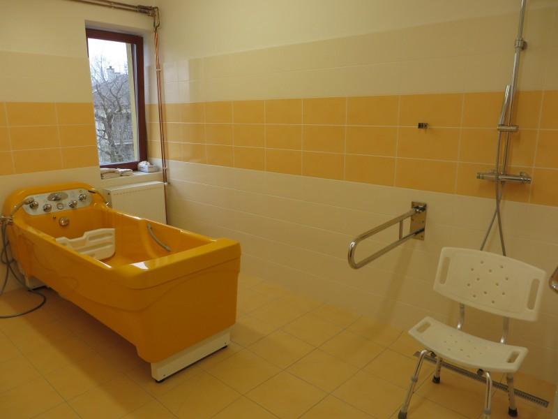 Vnitřní prostory - koupelna na oddělení B